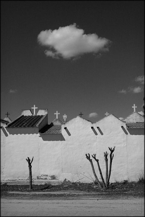 fotografía, Límites, serie, cruces, cementerio, paisaje, nubes, arte, serie