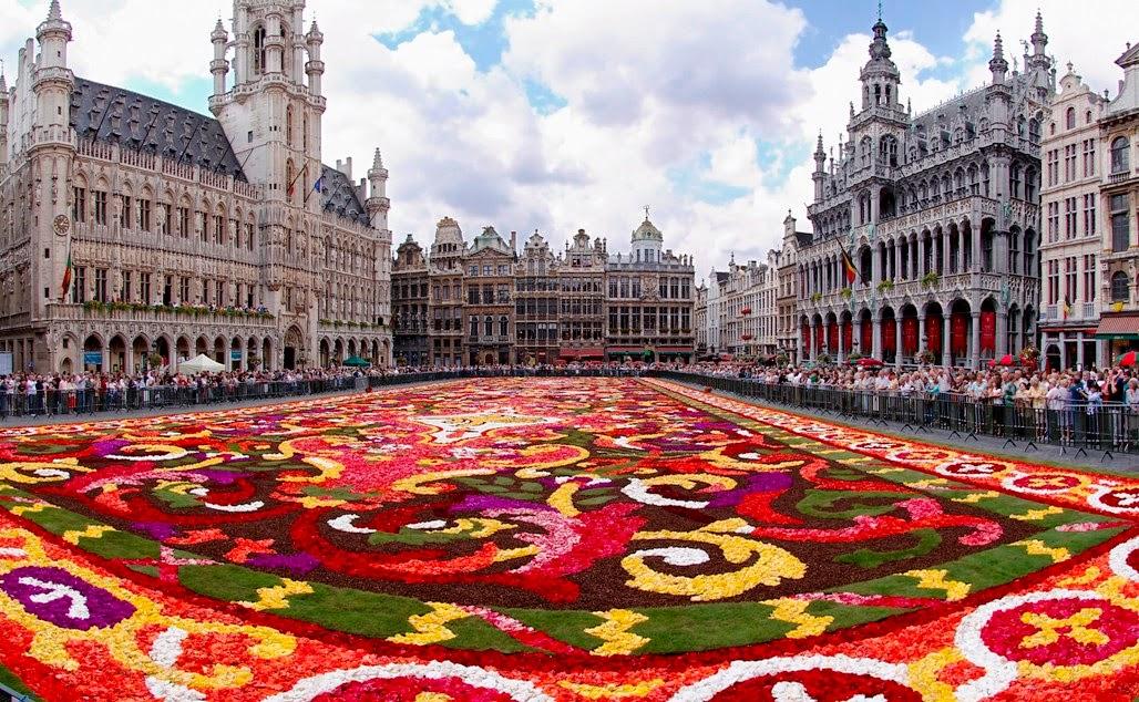 Grand Place em Bruxelas Jardim Flores