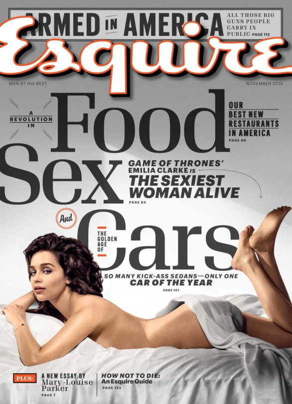 Emilia Clarke goes topless for Esquire November 2015