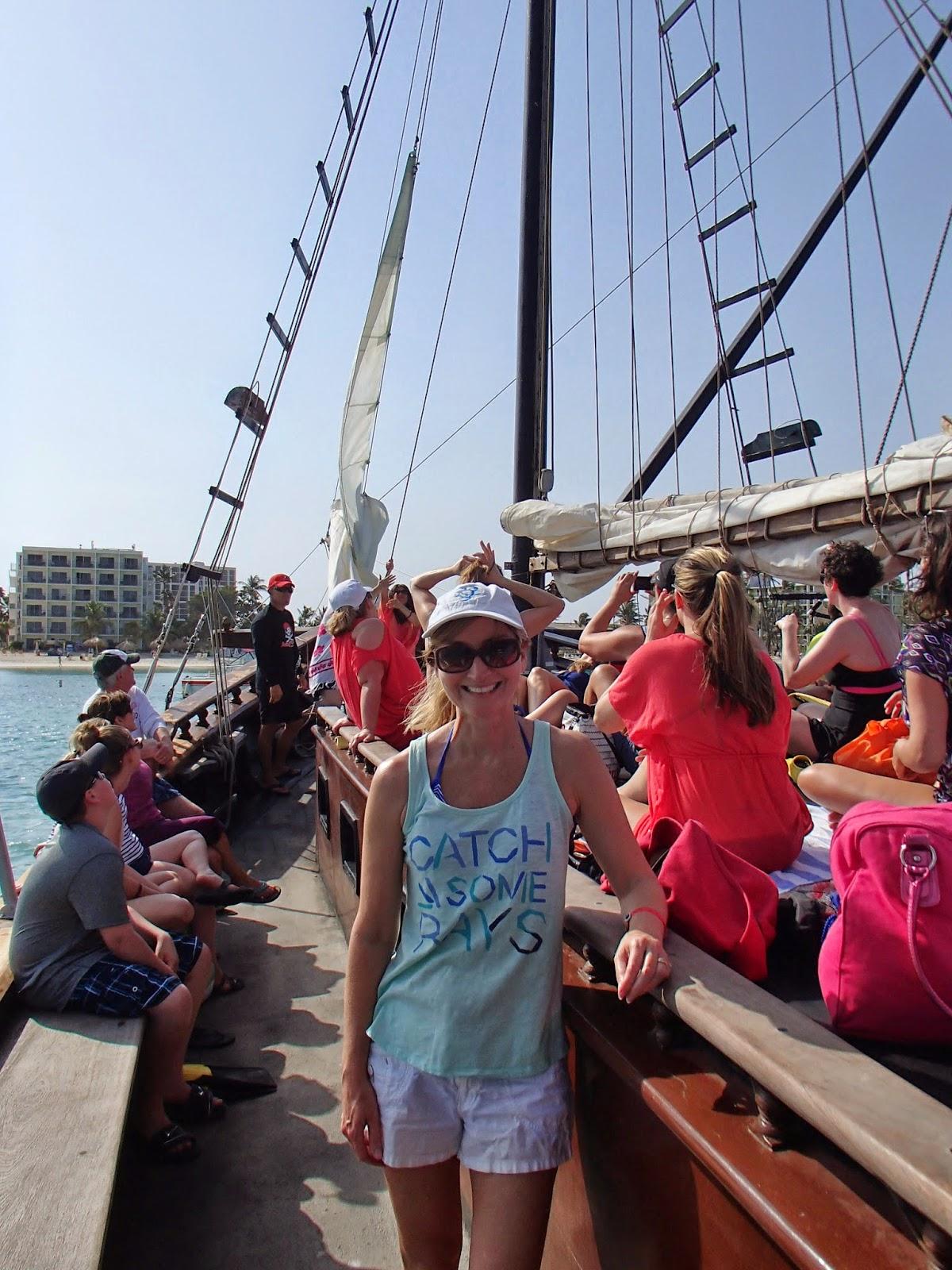 Susan on boat