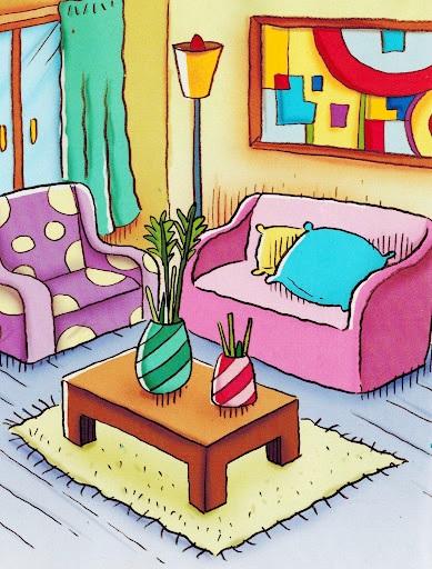 partes da casa desenhos coloridos