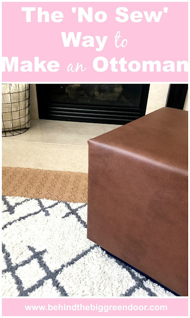 The No Sew Way to Make an Ottoman