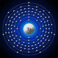 Tenesin (tennessine) atomu elektron modeli
