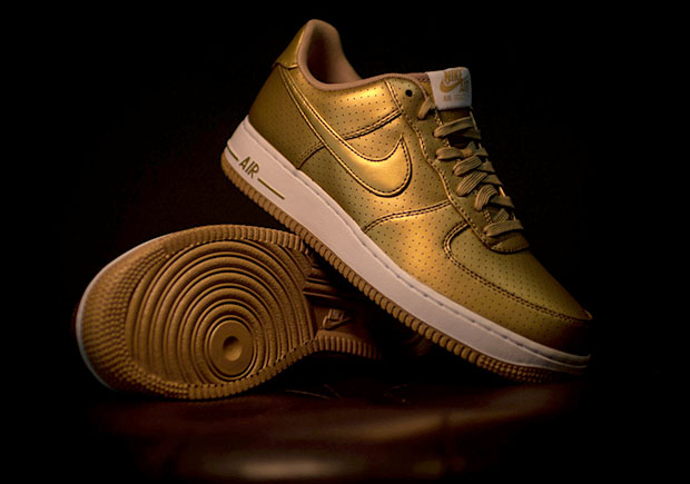 Nike Air Force One Metallic Gold sole sola