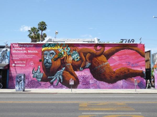 Delta Mexico Monkey mural ad