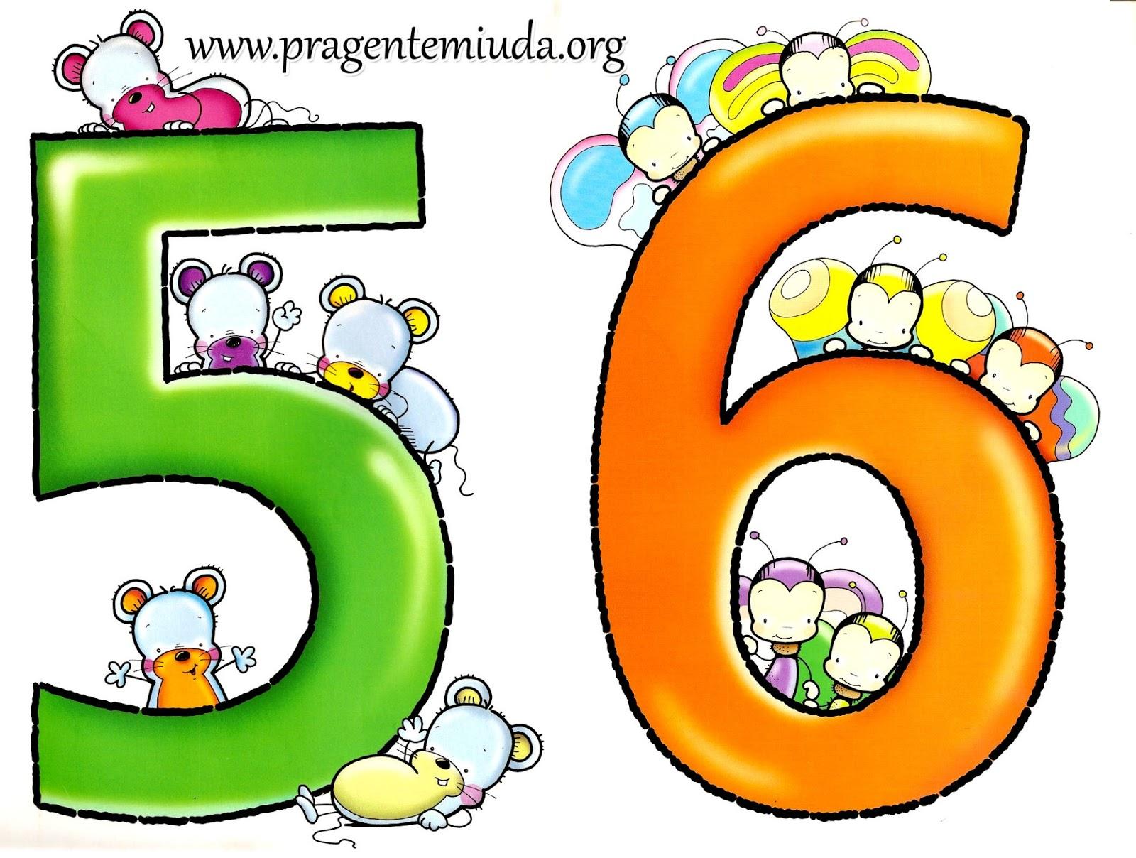 Números Coloridos Para Imprimir Pra Gente Miúda
