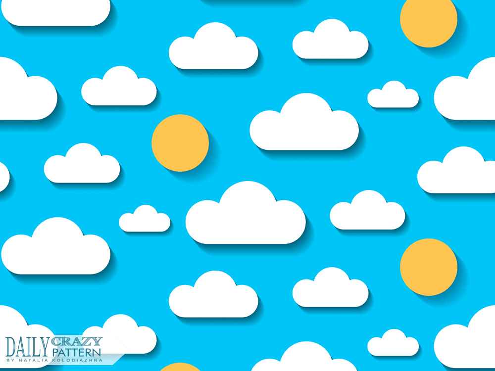 "Cute cloudy pattern for ""Daily Crazy Pattern"" project"