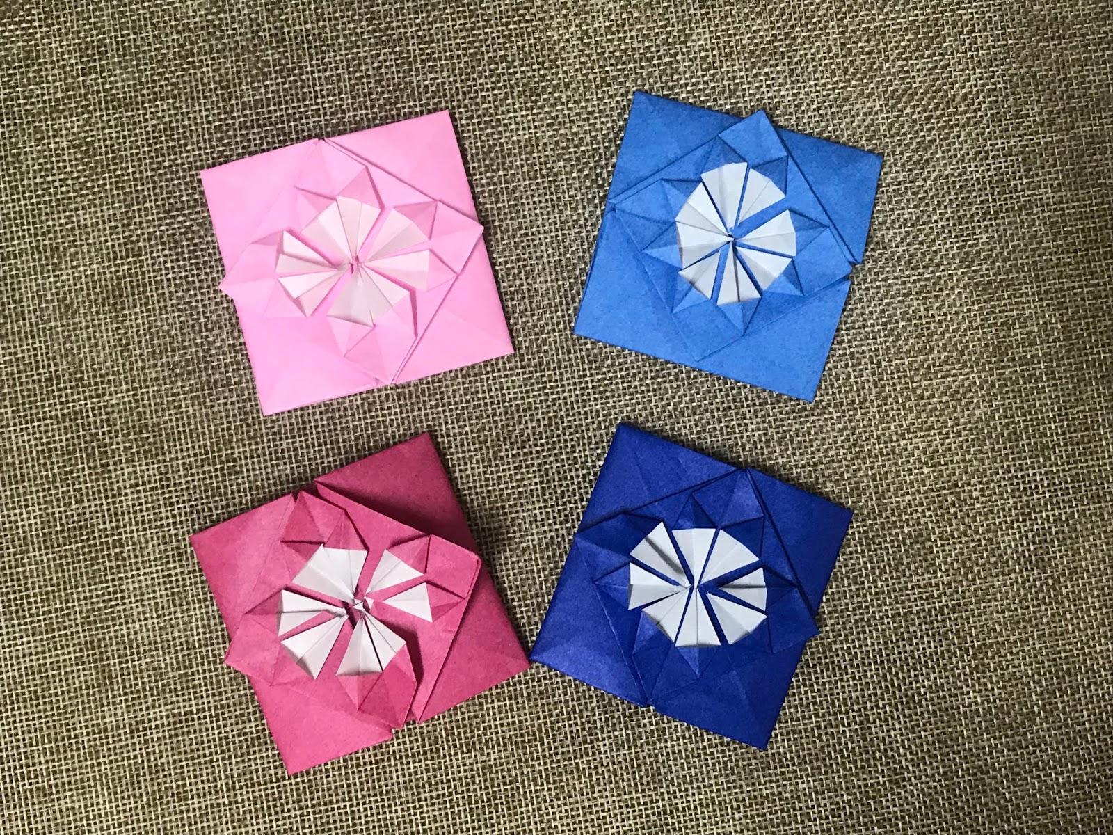 Tutorial 84 Origami Flower Envelope The Idea King