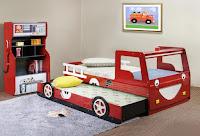 Increíbles camas que les encantarán a los pequeños autos de bomberos