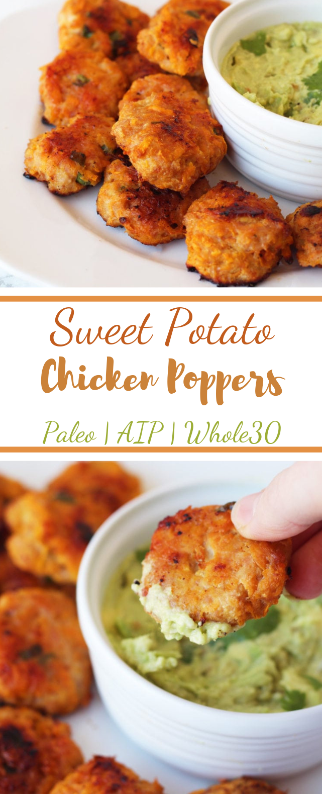 Sweet Potato Chicken Poppers #Paleo #Whole30