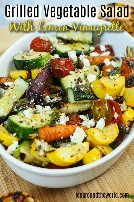 Grilled Vegetable Salad With Citrus Vinaigrette