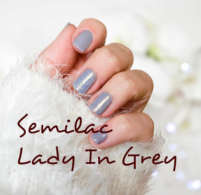 141 Lakier hybrydowy UV Hybrid Semilac Lady In Grey 7ml