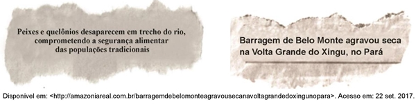 As notas jornalísticas da Usina Hidrelétrica Belo Monte