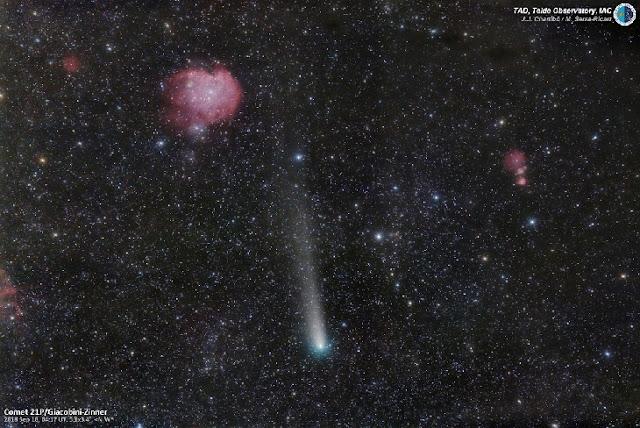 Cometa 21P/Giacobini-Zinner registrado por José J. Chambó / Miquel Serra-Ricart TAD, Instituto de Astrofísica de Canarias