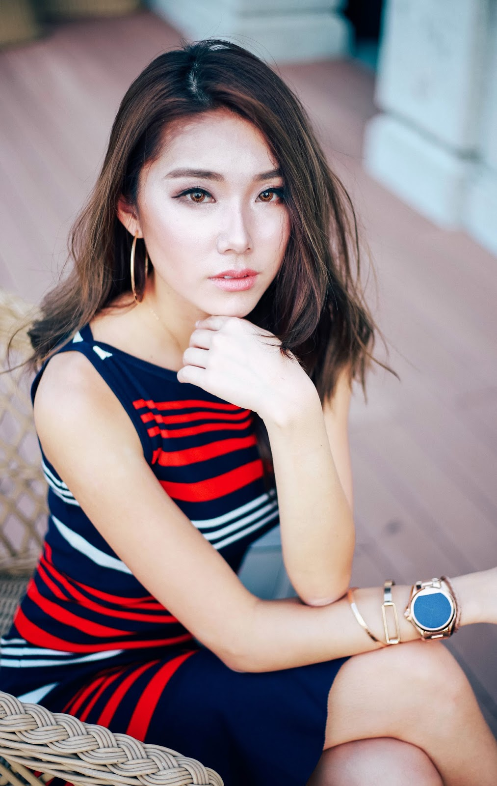 portrait, inspo, rose gold watch, styling, ralph lauren, dress, 2016, fall