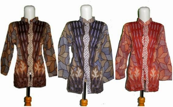 model baju batik kerah shanghai