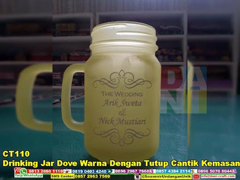 Drinking Jar Dove Warna dengan Tutup Cantik Kemasan Paper Box harga murah