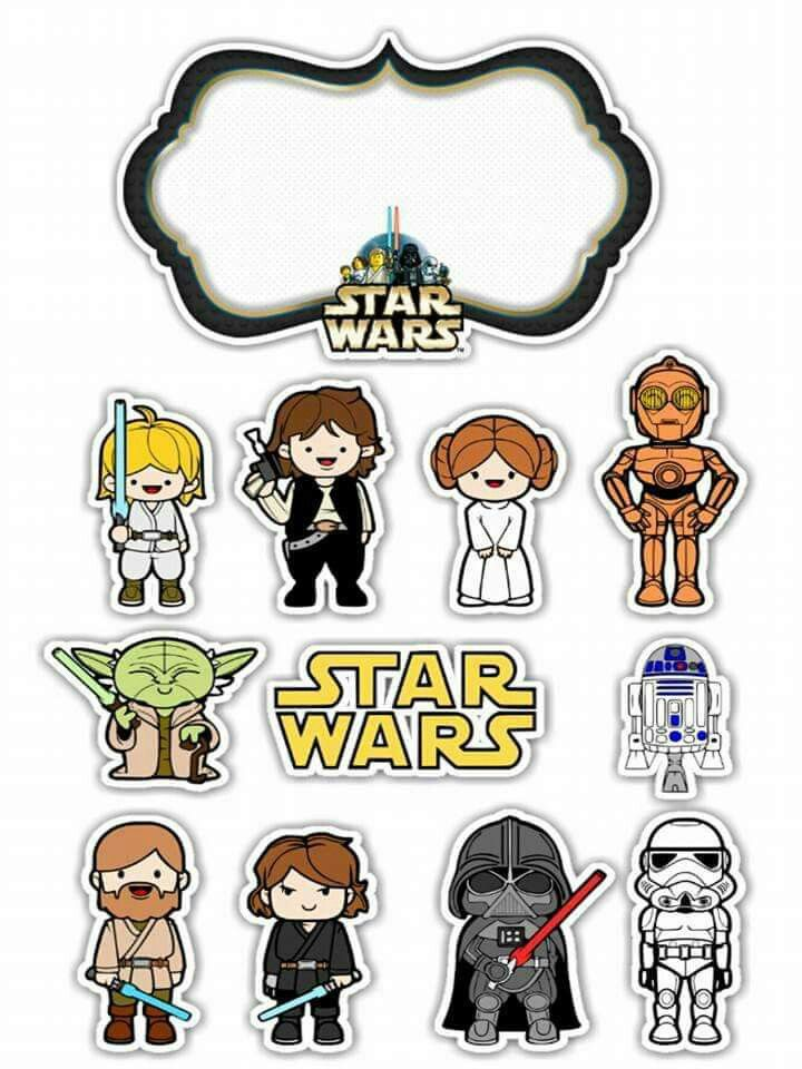 graphic regarding Star Wars Free Printable identify Star Wars Toons Absolutely free Printable Cake Toppers. - Oh My Fiesta