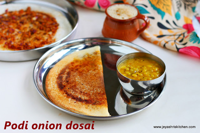 Podi onion dosa recipe