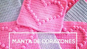 Manta de Corazones al Crochet y Cómo calcular cantidad de lana / Paso a paso
