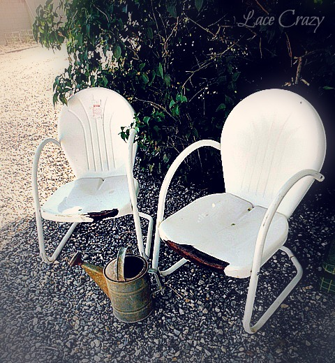 Lace Crazy The Vintage Shell Back Patio Chairs Have Been