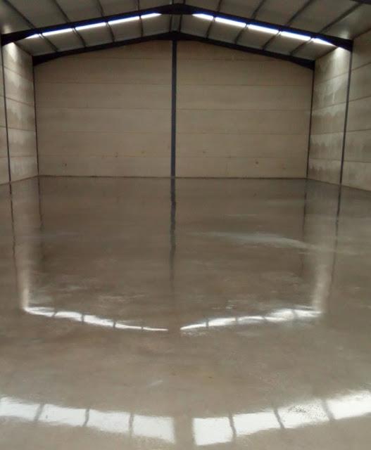 imagen suelo pulido de la nave en arganda
