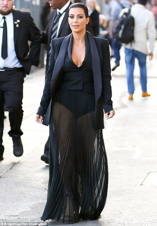 Kim Kardashian in a surprise visit to radio station on a quiz show