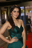 Raashi Khanna in Dark Green Sleeveless Strapless Deep neck Gown at 64th Jio Filmfare Awards South ~  Exclusive 102.JPG