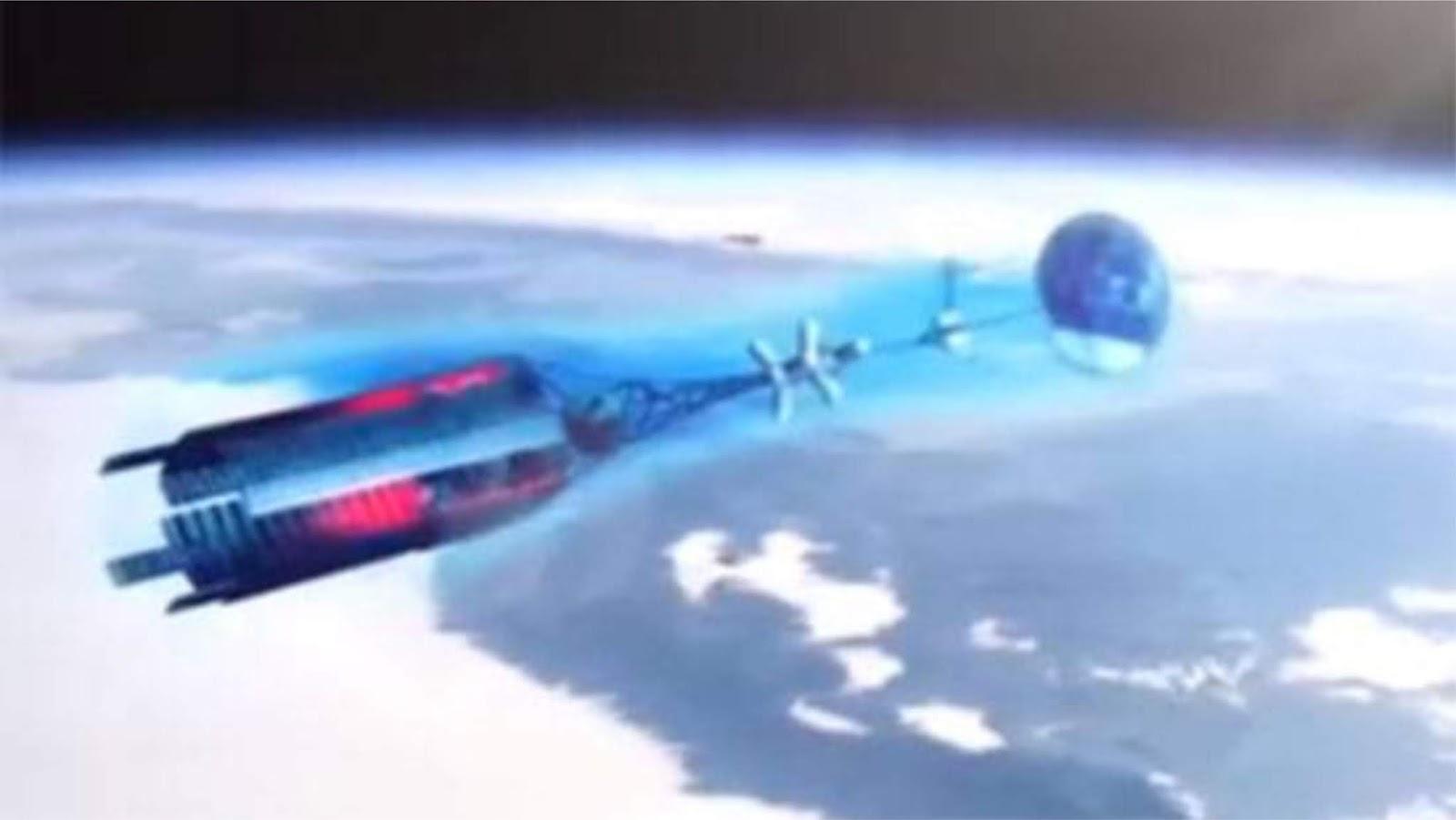 Model pesawat ruang angkasa nuklir Rusia