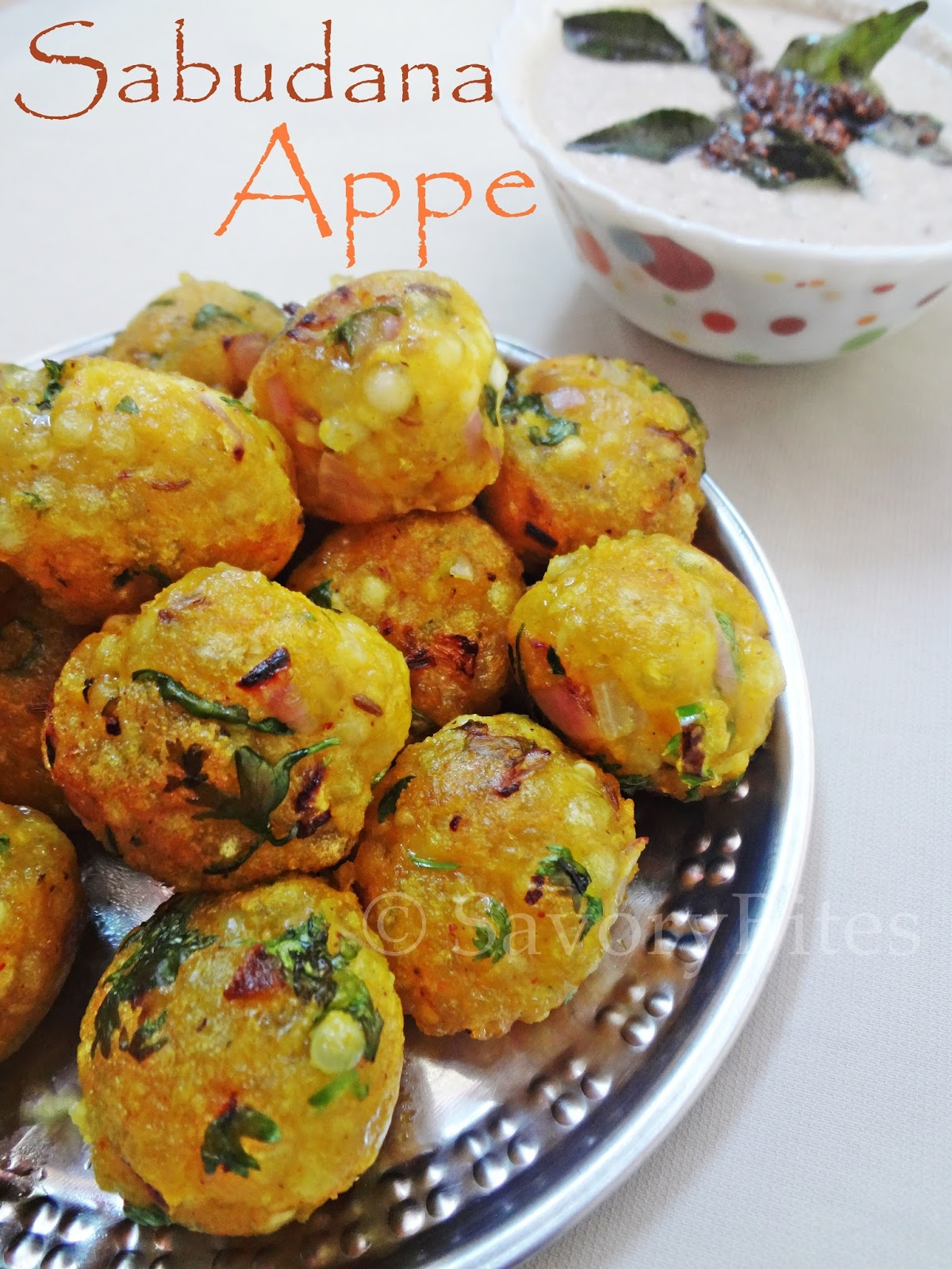 sabudana sago appe wada vegetarian breakfast