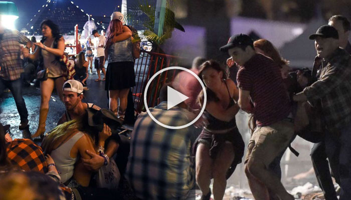 ACTUAL FOOTAGE: Mass Shooting in Las Vegas, Country Concert Event