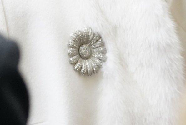 Danish Queen Margrethe diamond brooch, diamond earrings