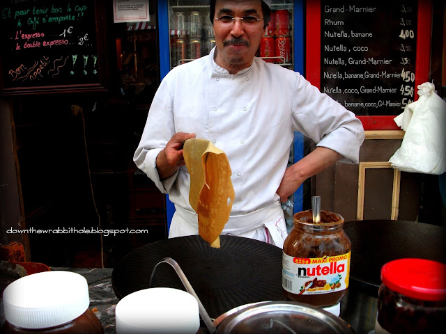 French crepes with Nutella, Paris cuisine