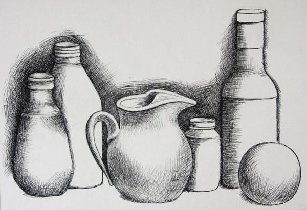 Simple still life. | .art. | Pinterest | Still Life, High ...  |Pencil Sketch Simple Object