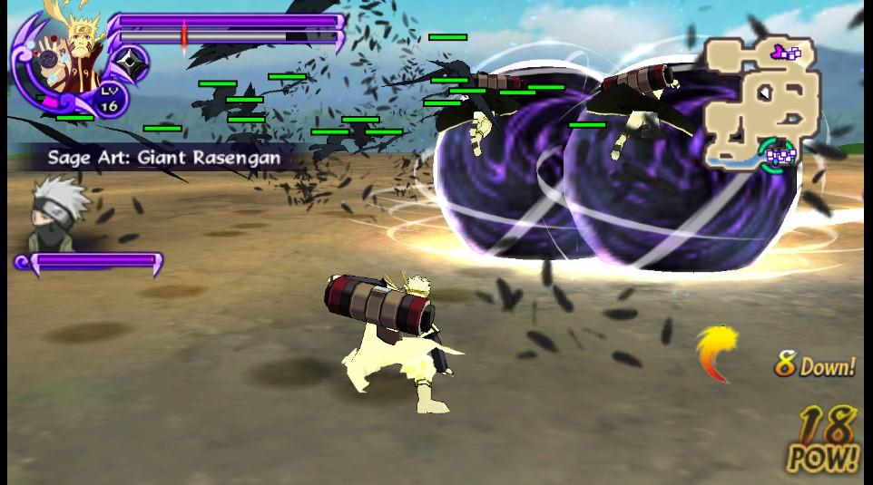 Cara Install dan Download Mod Texture Bijuu Naruto Shippuden Ultimate Ninja Impact PPSSPP PSP ISO