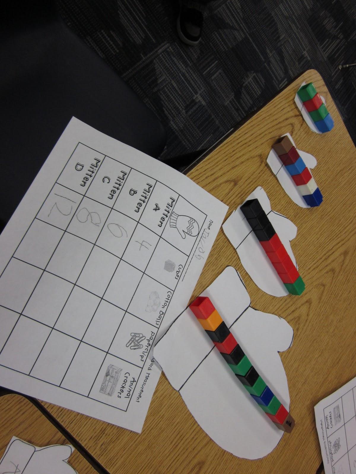 First Grade Fairytales Mitten Measurement Amp A Freebie