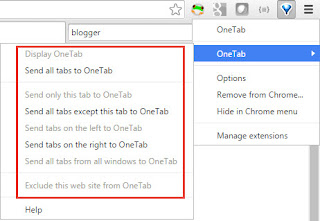 OneTab options
