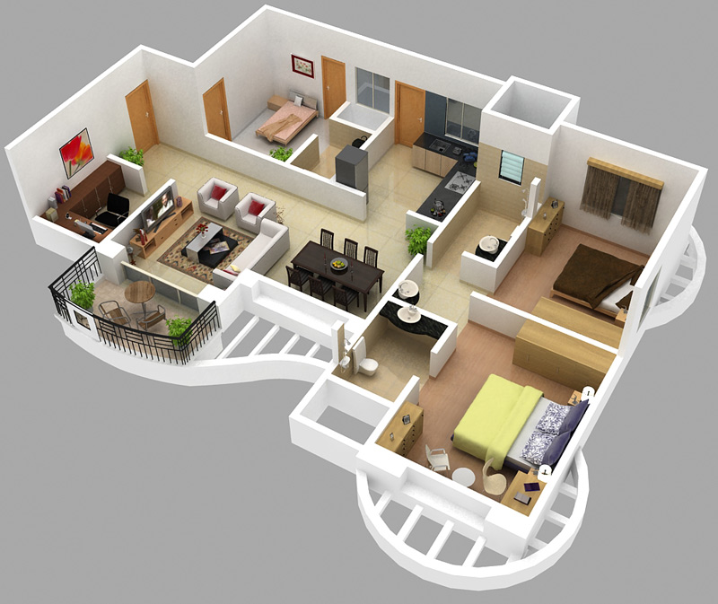 Home Design Ideas 3d: 15 Dreamy Floor Plan Ideas You Wish You Lived In