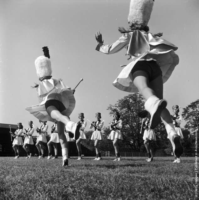 Vintage Photos Of Majorettes In An American High School