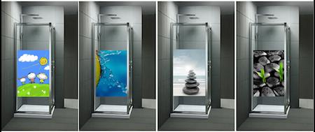 Baño con Ducha  Vinilos decorativos para mamparas de ducha o de bañera d74cb494c284