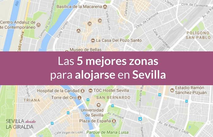 Mapa del centro de Sevilla