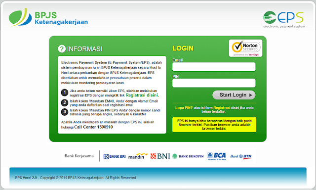 Halaman Registrasi EPS di Website via bpjs-online.com