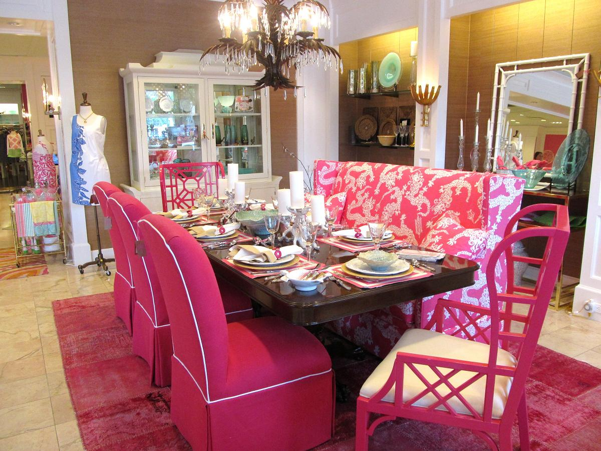 pink dining room chairs dog high chair chinoiserie chic the