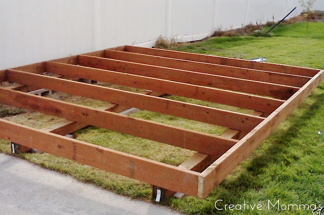 Creative Mommas: Build a Foundation for a Shed