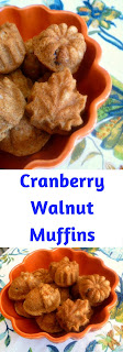Piping  hot muffins filled with crunchy walnuts, juicy plump cranberries, and a hint of cinnamon.  It was earthy, comforting, and oh so satisfying. - Slice of Southern