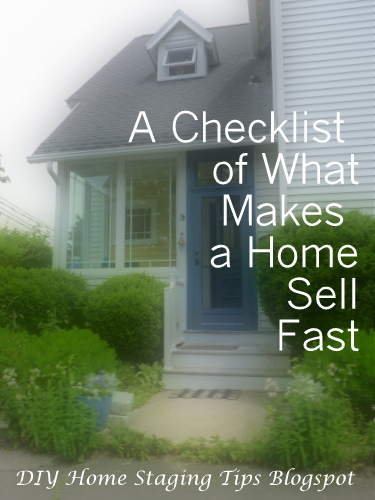 how to stage your house to sell fast