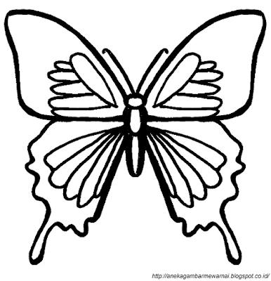 Gambar Mewarnai Kupu-kupu 1