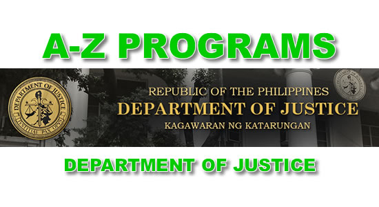 List of DOJ A to Z Programs