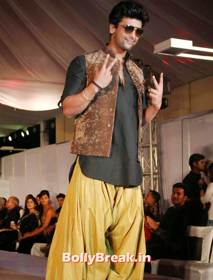 Kushal Tandon, Ex Bigg Boss Contestants at Welingkar's Tribute Fashion Show 2014