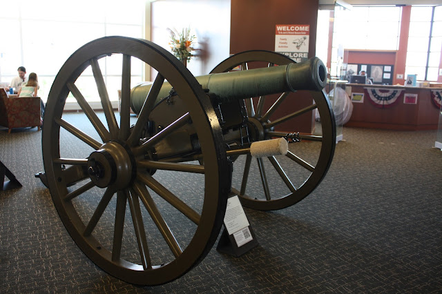 1841 6 pounder gun used at the beginning of the Civil War.
